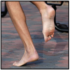 """On toes"" running"