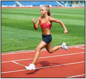 Almost-straight leg sprinting